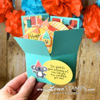 pop up explosion box card tutorial simple directions birthday bonanza lion video