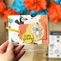 bonanza buddies stampin up project idea dsp card base koala tag card