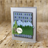 mix and match card idea for guys masculine stampin up country club dsp with majestic mountain air dies bundle lovenstamps
