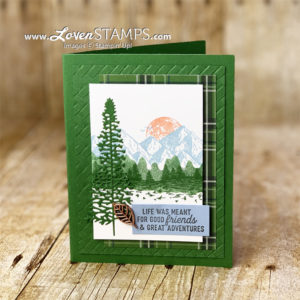 masking tutorial card idea for guys masculine stampin up country club dsp with majestic mountain air dies bundle lovenstamps