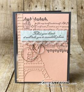 parisian beauty blossoms eiffel tower collage scalloped lace card idea for stampin up lovenstamps