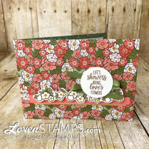 dsp card base ornate garden specialty designer series paper with under my umbrella flowers by lovenstamps