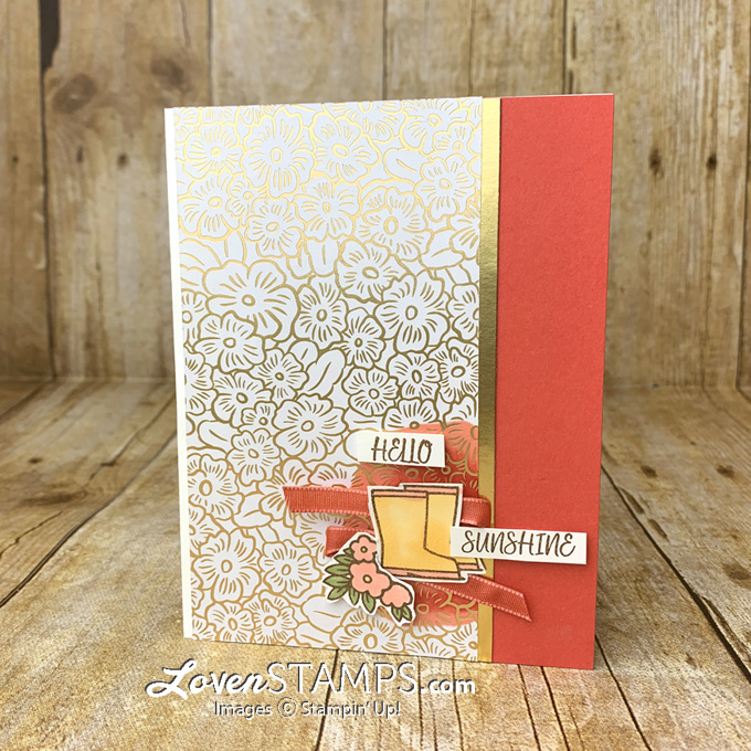 stampin blends tutorial for spotlighting technique with under my umbrella stamp set by stampin up with lovenstamps