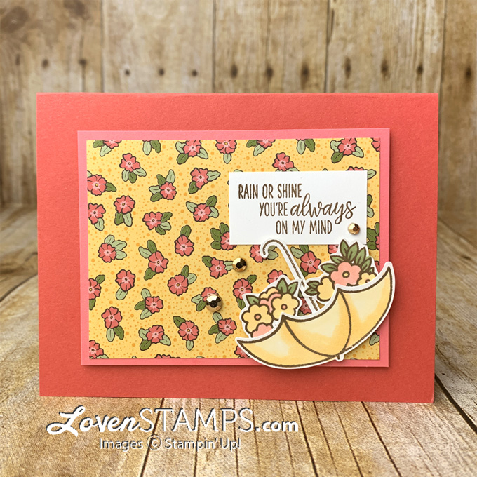 under my umbrella builder punch ornate garden designer series paper stampin blends card tutorial