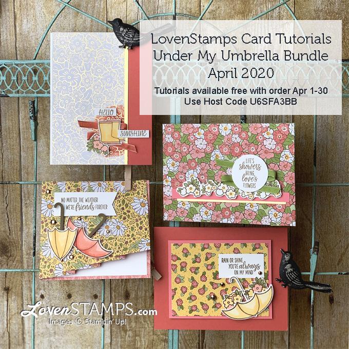 under my umbrella builder punch bundle card ideas with ornate garden suite designer series paper by lovenstamps supplies by stampin up tutorials