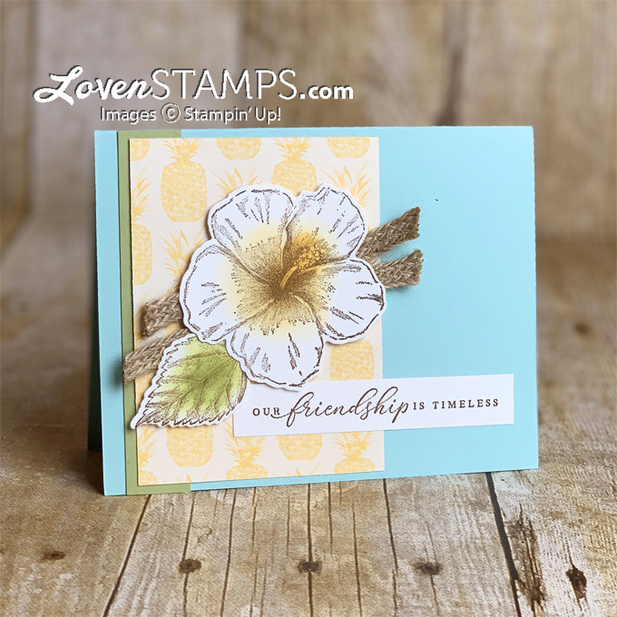 timeless tropical in the tropics dies bundle from stampin up summer hibiscus card by lovenstamps supplies from stampin up