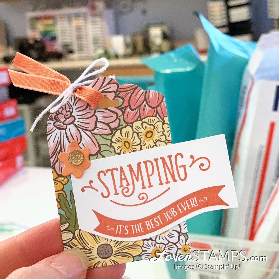 stamping your way to the top gift tag ornate garden dsp scalloped tag topper punch