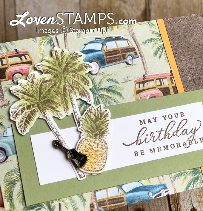 dspcardbase idea for dsp as a card base with tropical oasis stamp set stampin up by lovenstamps
