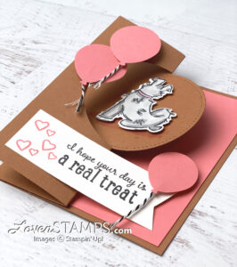 circle flip flop cards that move playful pampered pets stampin up lovenstamps tutorial video