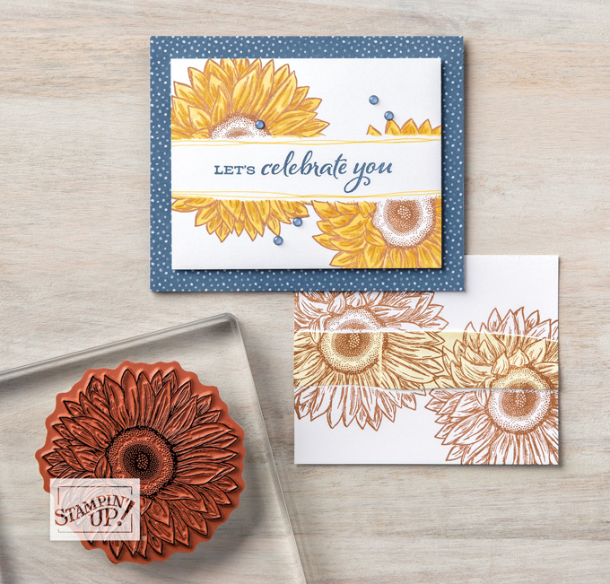 stampin up celebrate sunflowers bundle annual catalog 2020-2021