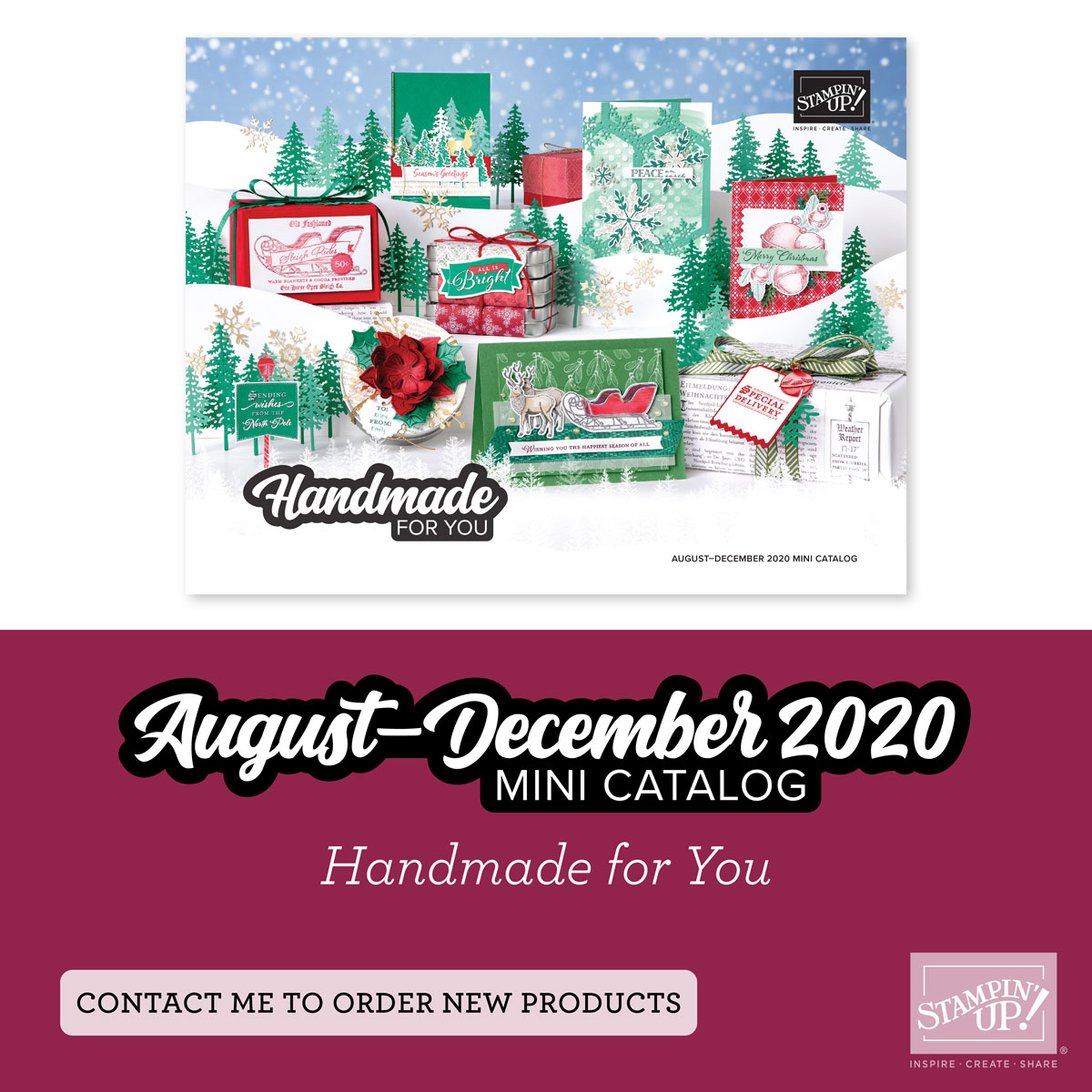 stampin up holiday catalog 2020 cover handmade for you august - december