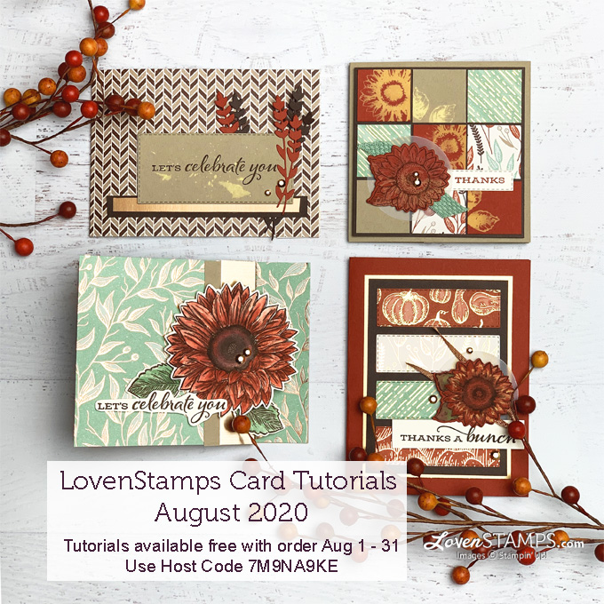 celebrate sunflowers gilded autumn suite stampin up customer appreciation specials from meg loven lovenstamps stampin up demonstrator