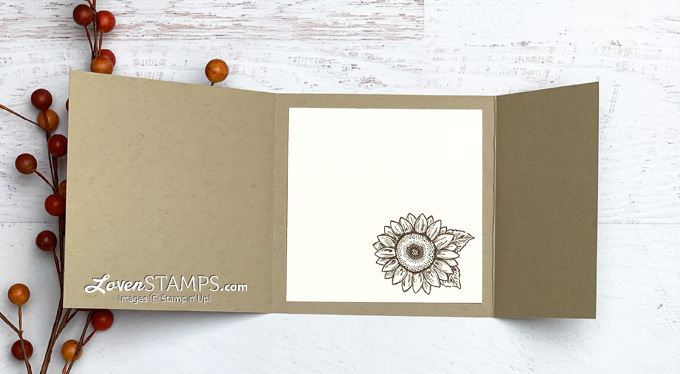 how to stamp with bleach directions for celebrate sunflowers quilt square collage trifold card from lovenstamps