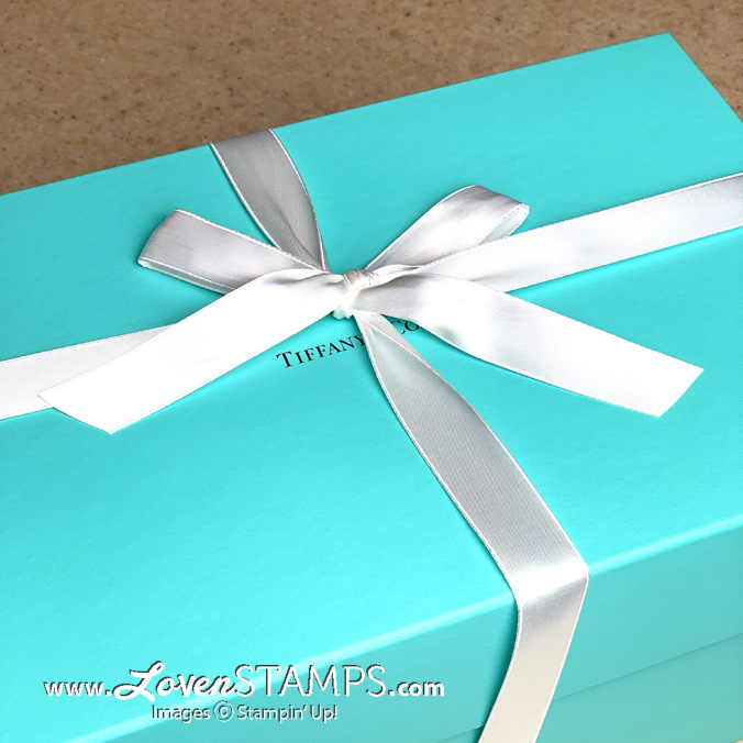 tiffanys blue box gift from stampin up for backstage leadership conference 2020