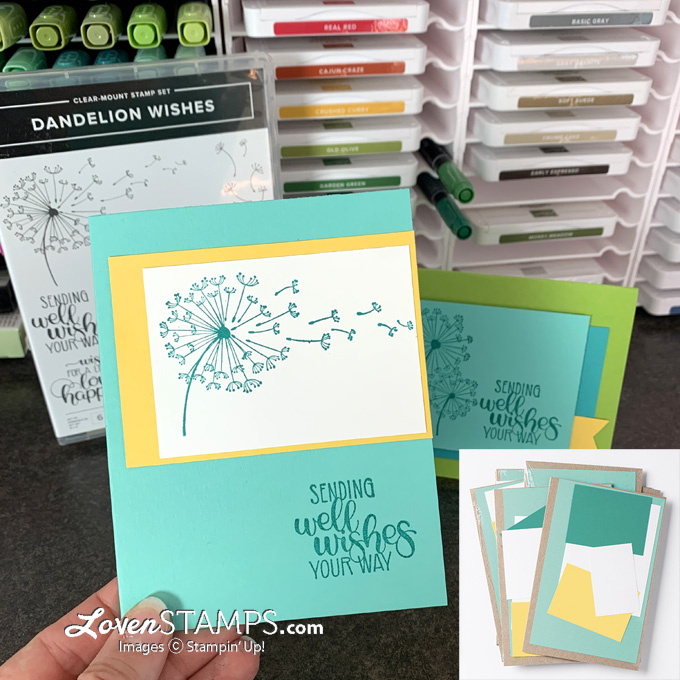 get and go stampin up demonstrator starter kit special card kits dandelion wishes ideas by lovenstamps