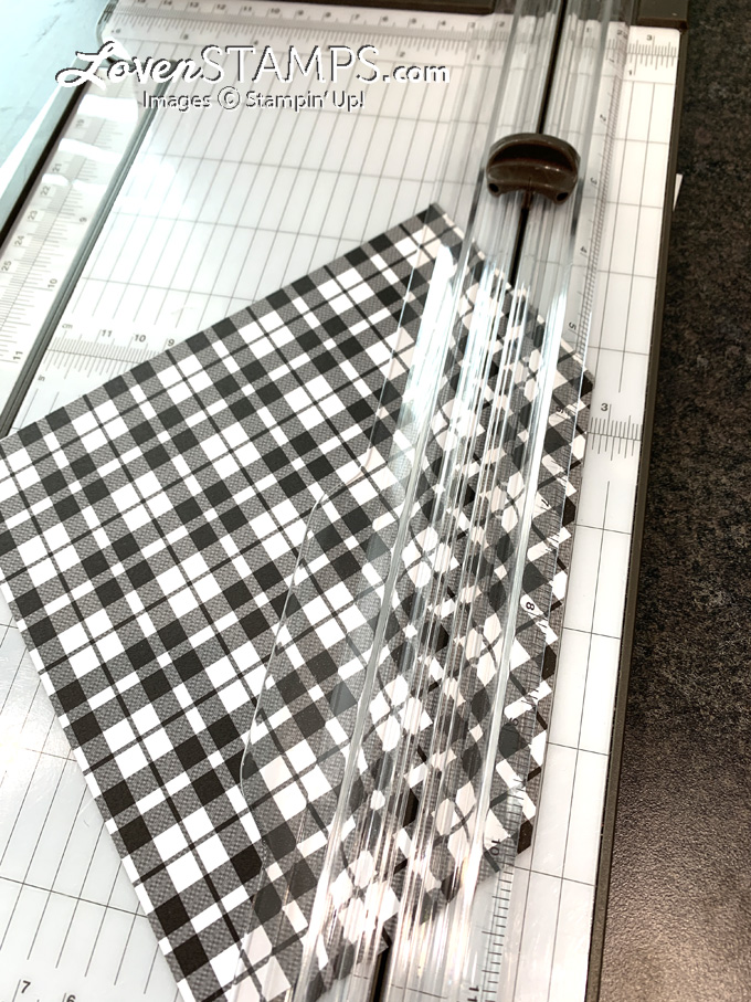 how to convert plaid tidings dsp to diagonal from horizontal patterns stampin up lovenstamps tutorial
