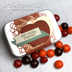 layered belly band rectangle tins stampin up pumpkin harvest hellos