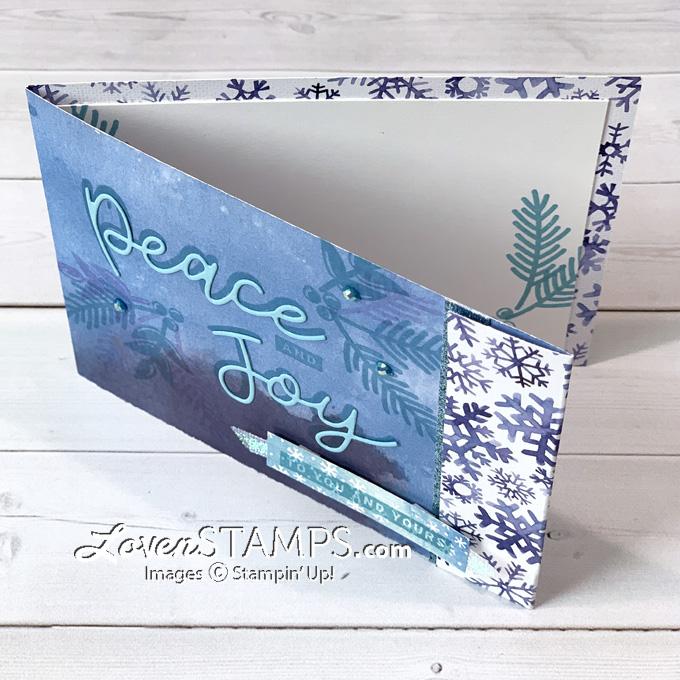 snowflake splendor dsp card base christmas card idea lovenstamps
