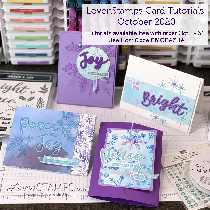 peace and joy stamp set snowflake splendor dsp suite mash up lovenstamps video tutorial pdf supplies stampin up