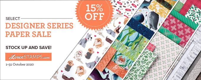 Stampin' Up! Designer Series Paper Sale October 2020