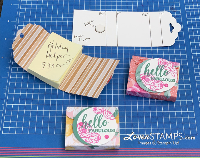 post it note flowered paper gift