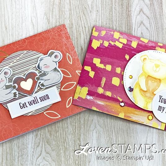 koala teddy bear heart handmade greeting cards