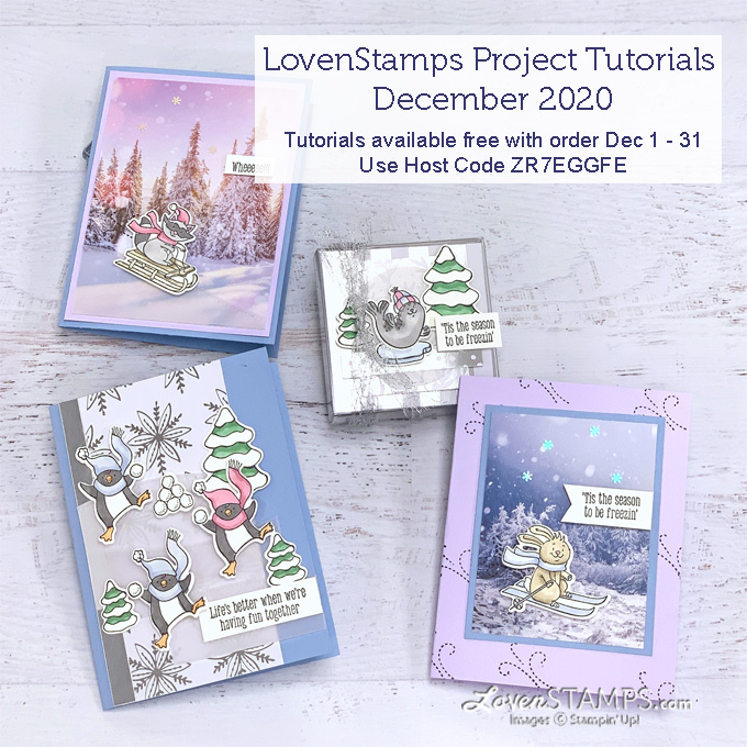 animal winter fun handmade greeting cards stampin up