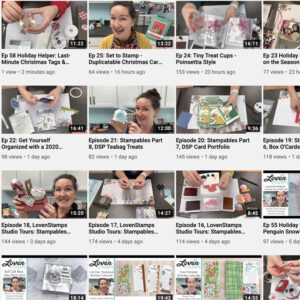 LovenStamps YouTube Channel Holiday Helper Series