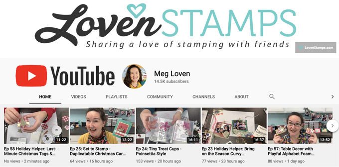 youtube thumbnails crafting videos lovenstamps