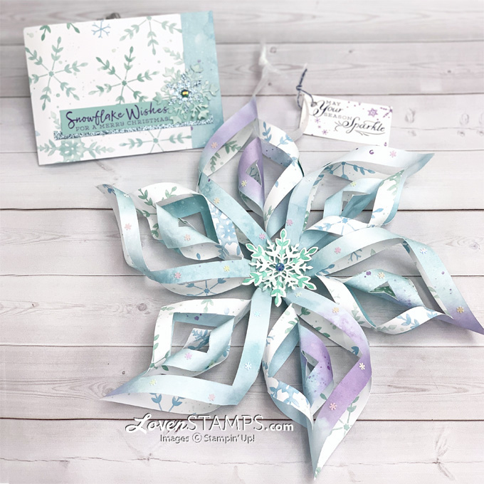 snowflake folded cut paper ornament