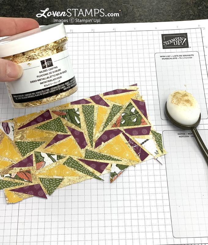 dandelion greeting card technique tutorial stamps ink paper lovenstamps