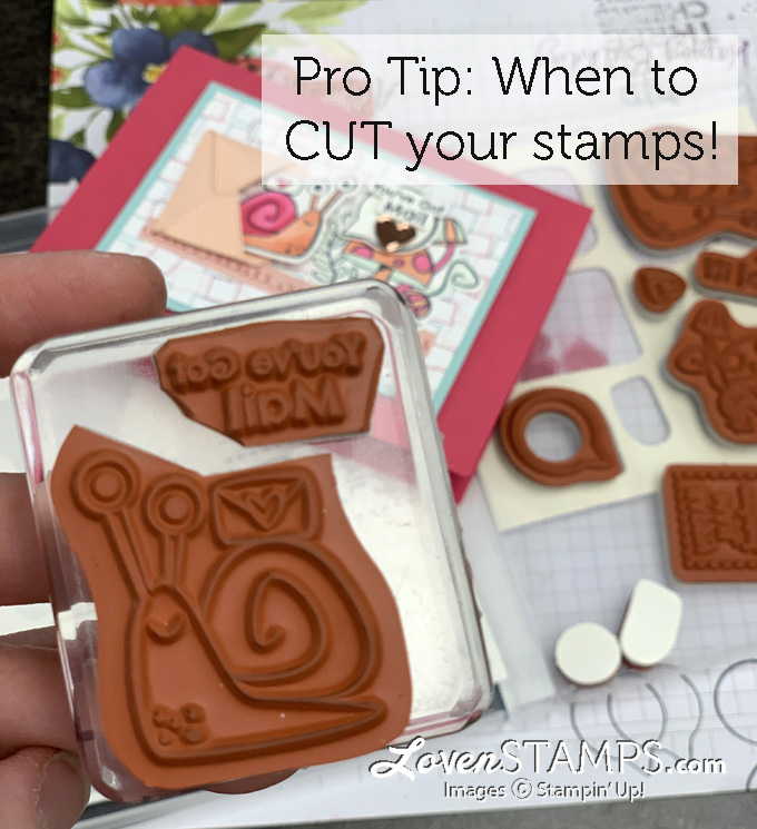snail rubber stamp card making clear block
