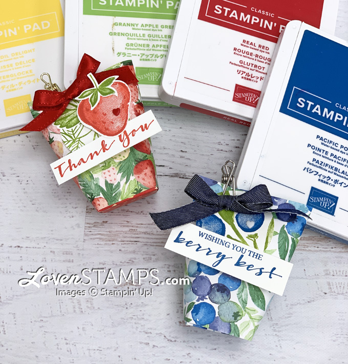 strawberry punch treat bag ink pads blueberry