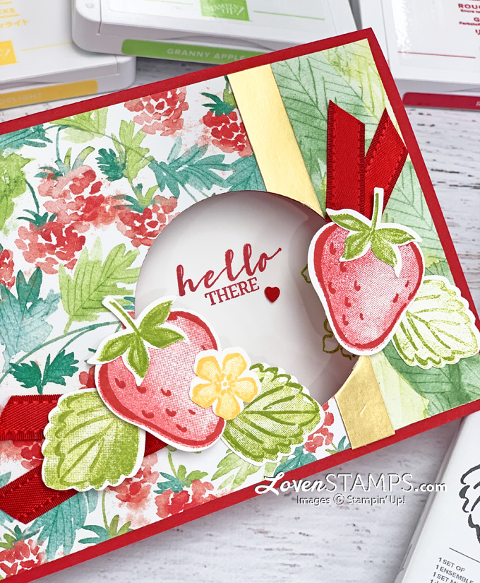 strawberry greeting card ink pads stamp set