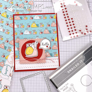 snail mail hello greeting card designer series paper scrapbooking cartoon word bubble stampin up video tutorial