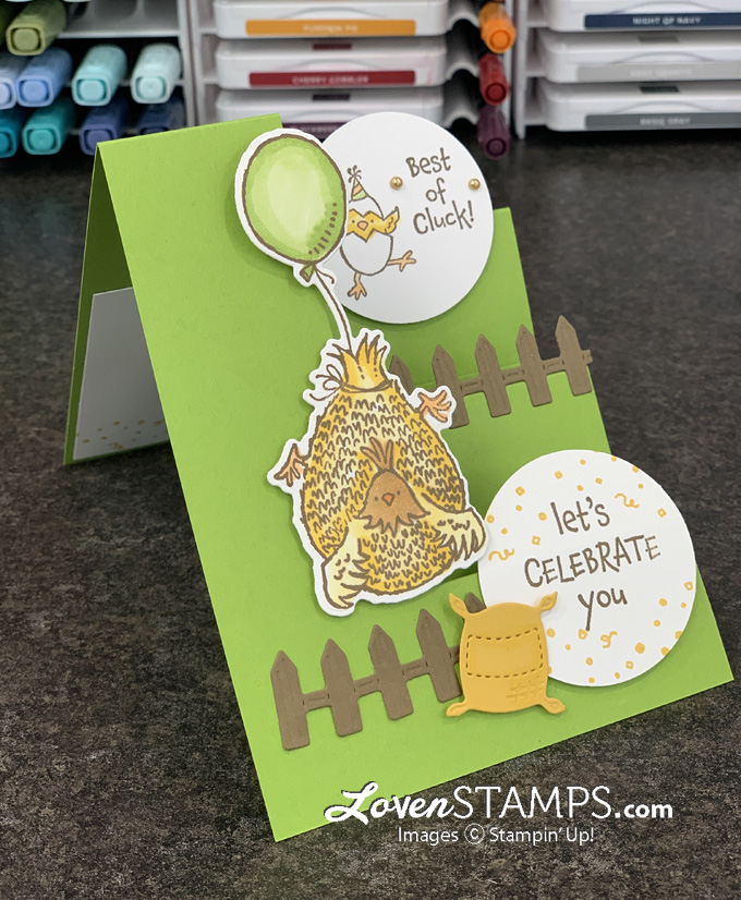 chicken stair step greeting card inks markers how to
