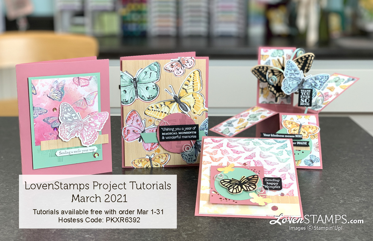 LovenStamps: Butterfly Brilliance 6x6 Faux DSP Card Base- Maker Mornings with Meg Video Tutorials