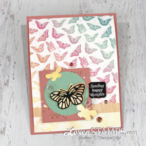 Get your Wish List ready, because today's project showcases the upcoming Butterfly Bouquet Suite -- a sneak peek from the new catalog! This whole month I'll focus on the Butterfly Brilliance stamp set plus Brilliant Wings Dies and Butterfly Bijou DSP. And in addition to the 4 projects that I'll share with video tutorials here on Facebook/YouTube, if you order with me this month I'll share a bonus PDF with 12 additional project ideas with you!