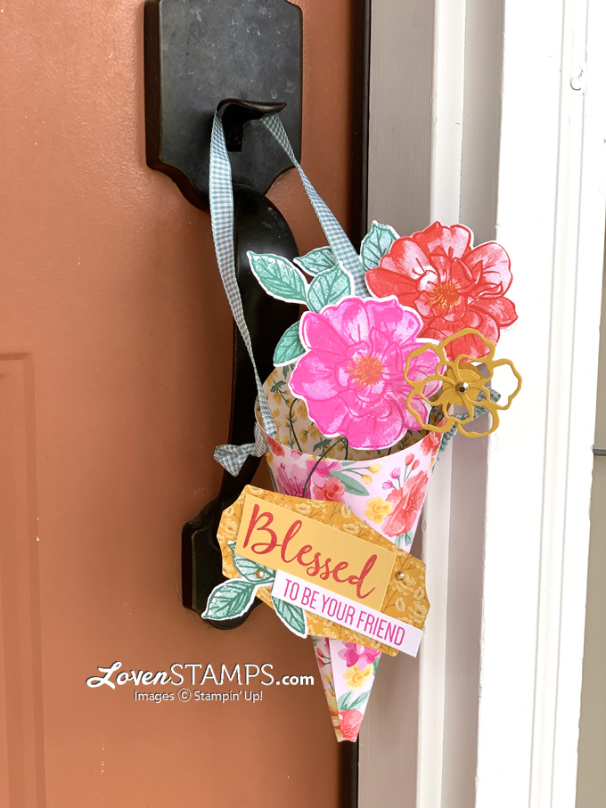 ep-132-may-day-basket-paper-flower-cone-to-a-wild-rose-stampin-up-flowers-for-every-season-dsp-video-tutorial-porch-door-hanger