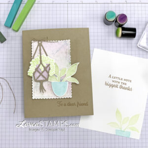 """Oldies but goodies...I recently pulled up some video tutorials that I shared 11 years ago (!!) featuring what we then called """"Chalks"""". They're the perfect ideas for using Stampin' Up!'s new Soft Pastels, and today's project featuring the NEW Plentiful Plants stamp set from the Bloom Where You're Planted Suite will showcase two technique tutorials: both the Poppin' Pastels Technique and the Marble Backgrounds."""