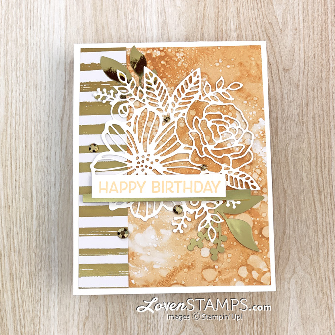 dsp-faux-blended-alcohol-background-artistic-dies-expressions-in-ink-suite-ephemera-pack-gold-accents-stampin-up-supplies-close